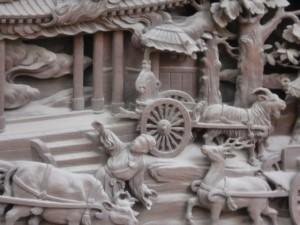 帝釈天の彫刻