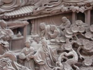 帝釈天の彫刻…
