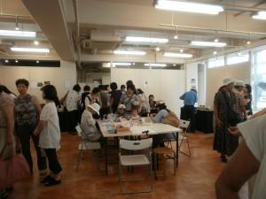 2010.8池袋にて共同作品展 ワークショップ