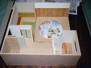 ドールハウス 相撲部屋 製作過程 2006年の作品